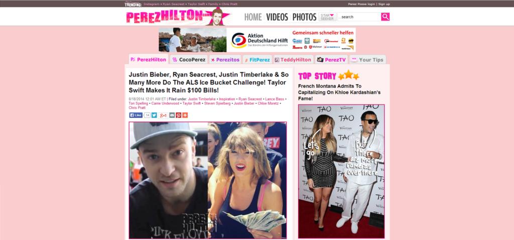 Blog Perez Hilton 2014, Crispy Content®
