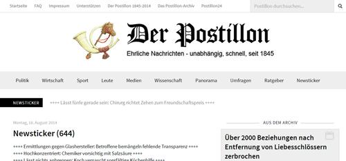 Blog Der Postillon 2014, Crispy Content®