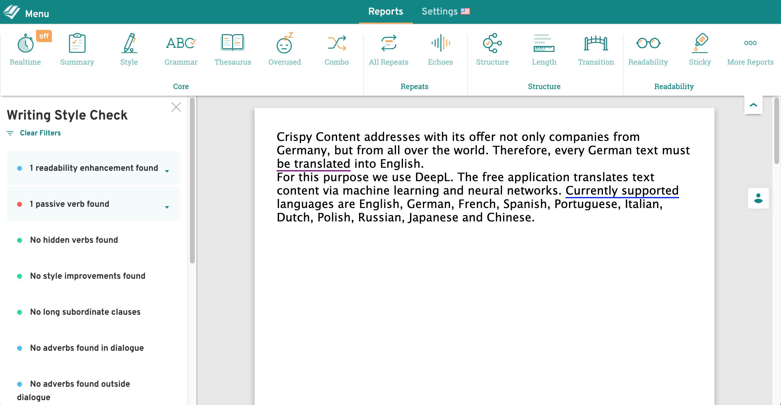 Content Marketing Tools Essentials, ProWritingAid, Crispy Content®