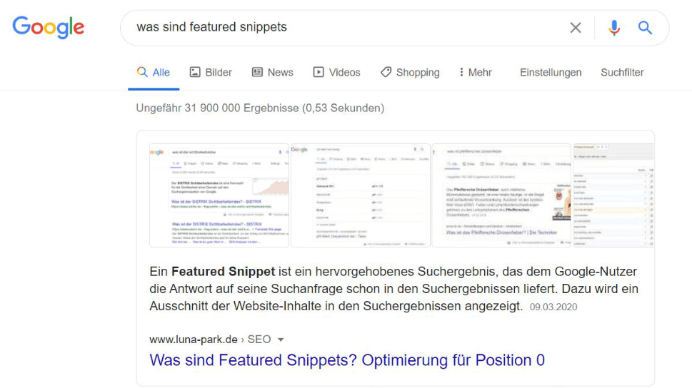 Google Featured Snippets: Chance oder Risiko?
